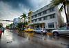 Art Deco in Miami Beach, Florida (` Toshio ') Tags: toshio miami miamibeach florida artdeco america usa architecture palmtrees car street rain wet fujixe2 xe2 avalon