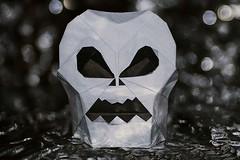 Skull (Jo Nakashima) (De Rode Olifant) Tags: 3d origami paper paperfolding marjansmeijsters jonakashima videotutorial halloween skull macromondays origamiskull saraadams