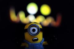 Halloween. (Dikke Biggie.) Tags: macromondays macromonday mm hmm macro closeup detail dof depthoffield scherptediepte halloween minions minion dark donker canon canoneos450d 100mm f28 canonnl dgawc scary eng bang run rennen ghost spook spooky spookachtig