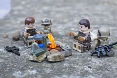 Campfire Stories (LegoInTheWild) Tags: moc afol lego minifigure brickmania brickarms