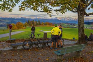 Gurten Autumn's Twilight time. Canton of Bern . Switzerland. No. 211.