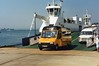 img955 G997 DVX Sandbanks Ferry 30-6-95 (marktriumphman) Tags: ford transit age concern poole sandbanks