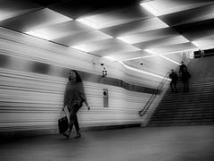 traveling (Rien van Voorst) Tags: streetphotography straatfotografie strasenfotografie fotografíacallejera photographiederue fotografiadistrada blackandwhite urban city thenetherlands dutch candid station bahnhof zwolle