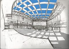 Patio de la FADU - UBA + Photoshop (90 bpm) Tags: sketch urbansketchers boceto croquis fadu uba buenos aires universidaddebuenosaires argentina campus ciudaduniversitaria university photoshop