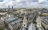 View From St. Paul's Cathedral (clarsonx) Tags: london england unitedkingdom stpaulscathedral christopherwren goldengallery 528steps dome city skyline riverthames cityscape clouds overcast panorama church aerial buildings architecture
