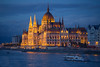 The Parliament at blue hour (Vagelis Pikoulas) Tags: parliament budapest pest blue hour autumn september 2017 tamron 70200mm danube river lights buda canon 6d long exposure boat landscape city cityscape hungary europe