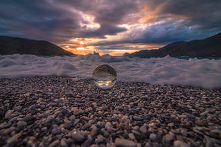 The crystal ball on the beach