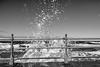 Sea Spray in Whitby 1 (IAAImages) Tags: seaspray whitby waves blackandwhite bigwaves sea seawall railings moody fastshutterspeed