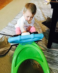 Exploring, that's my job. (enovember) Tags: fisherprice toy toddler learning learn explore