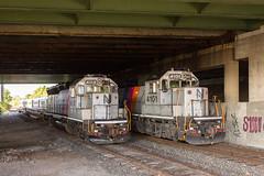 Family Reunion (sully7302) Tags: nj transit cnj central railroad pascack valley line gp40p gp40ph2 4101 4112 pvl passenger train siding mow teterboro green street runaround