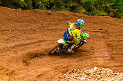 80cc Through The Turn (John Kocijanski) Tags: motorcycle motocross dirtbike vehicle rider race sport people canon70300mmllens canon7d