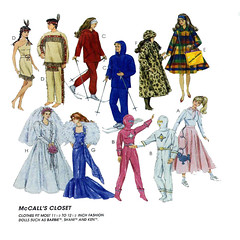 McCalls 7932 fashion doll clothes (FindCraftyPatterns) Tags: mccalls7932639 dollclothing fullwardrobe fashionbarbiedoll11529cm wedding gowns costumes wintercoats sewingpattern