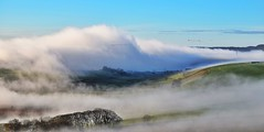 A beautiful start to the day (lisheeny) Tags: peak district hope valley fog hills countryside derbyshire morning geese landscape cloud inversion