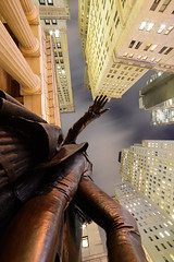 Trust the Universe ... (Yonatan Souid) Tags: federal hall wall street nyc ny newyork newyorkcity colors architecture landscape theimmensity cityscape city bigapple skyscaper skyscape buidling archi usa wallstreet night nightscape nightinny rotated reality urban scenery yonatan souid yonatansouid financial district manhattan