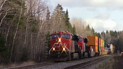 CN 121 Through Pelletier (MaineTrainChaser) Tags: 11417 trains train cn westbound west quebec