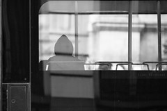 The passenger (Elios.k) Tags: horizontal outdoors people oneperson passenger bus tram commuter publictransportation glass reflection sitting hoodie blackandwhite bw monochrome travel travelling april 2017 spring vacation canon 5dmkii camera photography brussels belgium europe