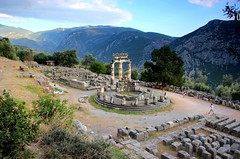 Tholos of Delphi (ika_pol) Tags: unesco unescogreece worldheritage greece delphi ancient ancientgreece ancientruins ancientarchitecture antiquity parnassusmountains parnassus mountains tholos delphitholos