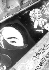 graffiti under the bridge (5) (~Ingeborg~) Tags: meinge amsterdam zeeburgereiland zuiderzeeweg amsterdamsebrug onderdebrug underthebridge graffiti art kunst face gezicht eye oog holland smoking roken weed blowen karikatuur caricature challenging uitdagend look kijken monochroom monochrome luisterbuis listeningtube ladiestorso damestorso aanbiddelijk adorable geheimzinnig mysterious rust peace nasty smerig desolate troosteloos dutchangle marliesdekkers sensual undressed uitgekleed frankhendriks