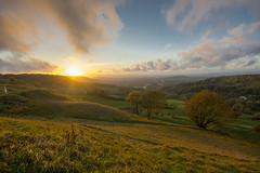 Sunset over Gloucester (gopper) Tags: sunset gloucester gloucestershire wales mountain mountains golden nikon d7100 sigma 1020mm birdlip hill autumn fall