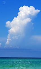 Destin Sky 2016-5: Towering Cloud (DGS Photography) Tags: florida destin miramarbeach gulfofmexico sky clouds cloudscape thunderstorm cumulonimbus skyscape bluesky