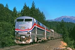 Nearly four hours late, but who really cares? (C.P. Kirkie) Tags: coaststarlight amtrak amtrakcoaststarlight northerncalifornia siskiyoucounty upshastaroute passengertrain trains railroads