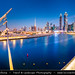 United Arab Emirates - UAE - Dubai - Creek area at Dusk - Twilight - Blue Hour - Night