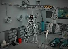 Medical bay - exo suit walker Y.L.V.A. (adde51) Tags: adde51 lego moc classicspace hangar medicalbay walker crane neoclassicspace exosuit space scifi science sciencefiction