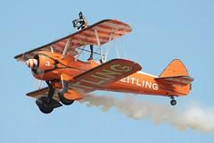Wing Walker (Bob Symes) Tags: riat fairford biplane wingwalker stearman breitling