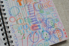Sketchbook Pages: Week 38 (Ulixis) Tags: ulixis blog sketchbook pages daily ritual routine book abstract mixed media collage doodle draw mark making pen pencil crayon scribble pattern