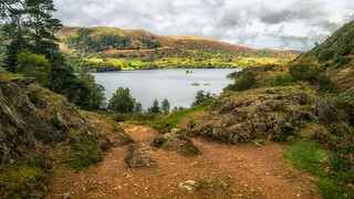 Looking down on Ullswater...