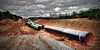 Alabama pipeline (Bob G. Bell) Tags: pipeline williams construction sky clouds bobbell leica