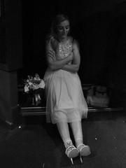 86/117 in 2017 - It's been a long day (amy's antics) Tags: bridesmaid flowers stairs heels