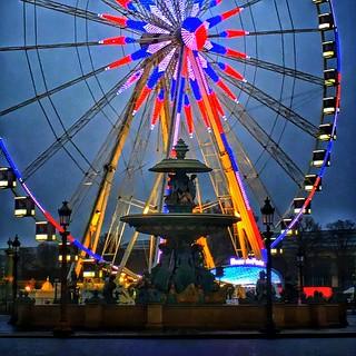 Paris France  ~   Roue de Paris  ~ Ferris Wheel ~ Fontaines de la Concorde