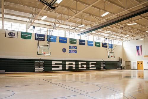 Kahl Gymnasium Bleachers and Floor