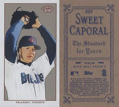 2002 / 2003 - Topps 206 Mini Baseball Card / Series 3 / Sweet Caporal Blue - ROY HALLADAY #325 (Pitcher) (Toronto Blue Jays) (Baseball Autographs Football Coins) Tags: series3 2002 2003 topps 206 topps206 sweetcaporal sweetcaporalblue blue mini card minicard baseballcard 2002topps206 royhalladay dochalladay torontobluejays bluejays pitcher
