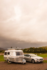 Eriba at Bunree (Briantc) Tags: scotland highland lochaber bunree onich ballachulish caravansite eriba eribatriton triton caravan