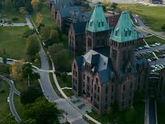 Friday The 13th (_mndgmes) Tags: richardson complex richardsoncomplex insane asylum psychiatric ward hospital 20thcentury olmsted kirkbride buffalo new york ny hotel henry renovated restored campus state buffstate elmwood village downtown city urban spooky halloween psych crazy fridaythe13th aerial drone dji mavic mavicpro daylight natural trees greenery