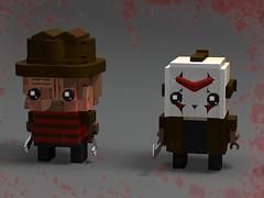 Freddy vs Jason Brickheadz (monkey5321) Tags: lego brickheadz freddy krueger jason friday 13th fridaythe13th nightmareonelmstreet nightmare elm street