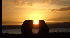 Sunset at the standing stones of Stenness (stuartcroy) Tags: orkney island stenness standing stone scotland scenery sky sony sunset sunlight infinitexposure