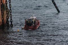 Diver on deck (SPMac) Tags: chains mooring giant beneath boom flare hose offload arctic circle barents sea norway eni norge goliat fpso 71227 floating production storage oil gas ldc light diving craft frc fast rescue divers maintenance inspection diver rescuerecovery deck