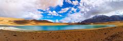 Kyagar Tso Panorama (ZeePack) Tags: lake kyagartso highaltitude ladakh tsomoriri india panorama landscape travel blue azure cloudy hills himalayas mountains canon 5dmarkiii handheld water