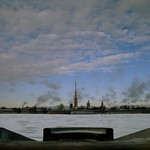 View on the Peter and Paul Fortress from the Palace Embankment