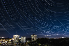 Stars (Stefen Acepcion) Tags: star trail startrail startrails blue night new canon light black canada ontario city urban long exposure longexposure building