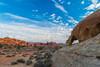 Land Before Time (tquist24) Tags: mojavedesert nevada nikon nikond5300 valleyoffirestatepark arch clouds desert geotagged hike hiking landscape naturalarch park rock rockformation rocks sand sandstone sky unitedstates