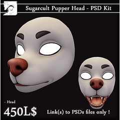Sugarcult Pupper Head PSD Kit (Chubby Kirin) Tags: secondlife sl pupper head furry puppy sugarcult psd kit
