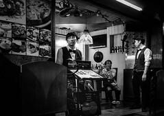Night Shift. (Presence Inc) Tags: night portrait rx1rm2 people 35mm nightlife photograph bangkok citylife filmmood everyday bw fullframe cinematic street sony city mirrorless light nightpeople lowlight urban wideangle rx1r dark photography life zeiss society streetphotography layers candid thailand