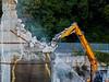 Demolition of an ex Piaggio building (4) ((Imagine) 2.0) Tags: lumixgvariopz45175mmf4056 2017 buildings demolition olympusomdem10markii reportage finaleligure