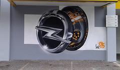 Opel's label (Pensive glance) Tags: graffiti image painting wall mur mural opel streetart artderue