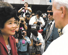 Setsuko Thurlow meets the Pope