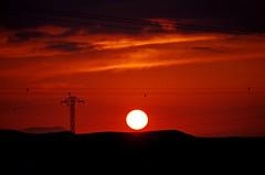 Montes de Zuera (portalealba) Tags: zuera zaragoza aragon españa spain sunset sol cielo nubes portalealba pentax pentaxk50